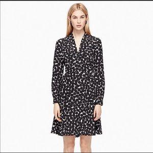 Kate Spade black and ivory polka dot silk dress 0
